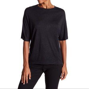 VINCE Charcoal Grey Short Dolman Sleeve Tee Shirt